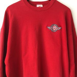 90s Vintage Airlines Pullover Sweatshirt USA Red